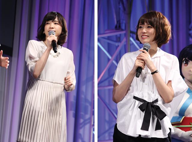 ▲左から、諏訪彩花さん(ヴェイル役)、藤井ゆきよさん(ヌイ役)
