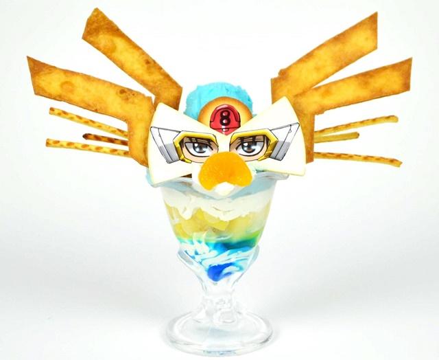 ▲「ちゃんと俺の目を食えよ」超カッケェェェェェェェェ!!新八の眼鏡パフェ