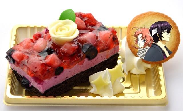 ▲高杉と神威のケーキ(ダブルベリーケーキ)