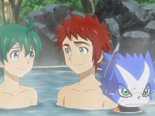 TVアニメ『デジモンユニバース アプリモンスターズ』第31話より先行カット到着! 皆で温泉旅行を楽しんでいると、オフモンに恐ろしい変化が――!?