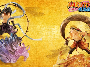 TVアニメ『NARUTO-ナルト- 疾風伝』より、ナルト・サスケが風神雷神の姿になってセットで登場! 屏風絵を意識した、重厚感あるクオリティ