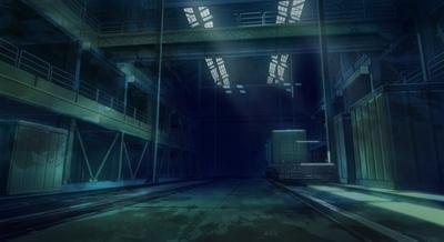 ▲廃工場倉庫内部
