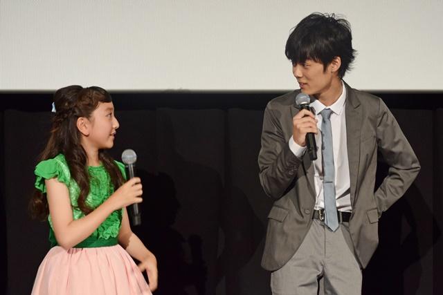 ▲谷さんはルーを意識した衣装で登場。横にいた下田さんは「可愛い」と思わずポツリ。