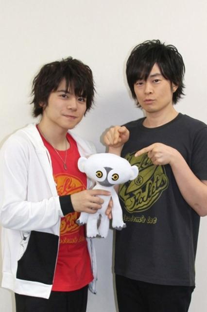 ▲左から内田雄馬さん、阪口大助さん