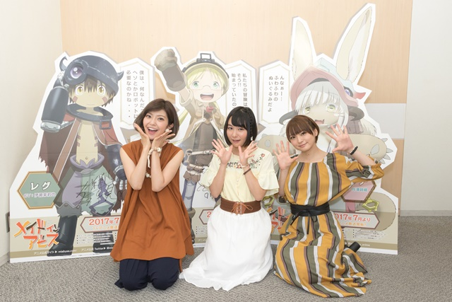 『メイドインアビス』先行上映会で富田さんら声優陣がリコ飯に期待