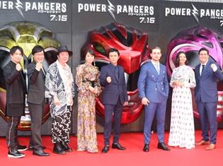 声優・鈴木達央さんがハリウッド俳優とレッドカーペットを颯爽と歩く! 日本凱旋『パワーレンジャー』ジャパンプレミアが国技館で開催!