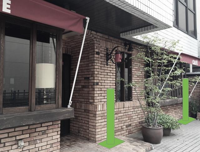▲竹灯籠設置イメージ。竹灯籠は私有地に設置します