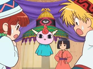 TVアニメ『魔法陣グルグル』第4話あらすじ&場面カットが到着! ククリはニケと精霊ギップルと共に、修行のためゲルニ大陸のシュギ村を目指す