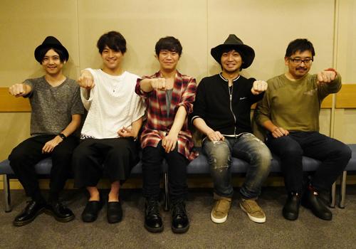 ▲左から梶裕貴さん、石川界人さん、古川慎さん、中村悠一さん、上田燿司さん