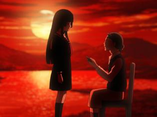 TVアニメ『地獄少女 宵伽』第4話「わたしを深く埋めて」より場面カット到着!老人ホームでヘルパーとして勤務する柴田つぐみはある事実を訴えようとするが……