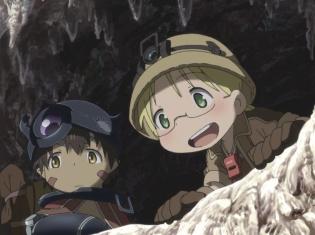 『メイドインアビス』第9話「大断層」のあらすじと場面カットを紹介。深界三層「大断層」にたどり着いたリコとレグは……