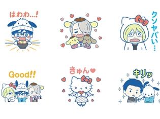 『ユーリ!!! on ICE』×サンリオキャラクターズのコラボLINEスタンプが登場! 勇利たちがサンリオキャラクターの恰好をしてあなたの元にやってくる!