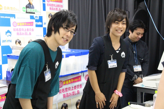 「『声優男子ですが・・・?』知名度向上委員会 商品お渡し会」レポート!河本啓佑さん、白井悠介さんがアニメイトのレジに立つ!