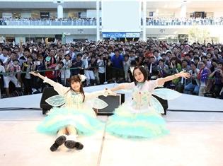 プチミレディ(悠木碧さん&竹達彩奈さん)が、羽根付き衣装を身につけ、4thアルバム発売記念フリーライブを実施!