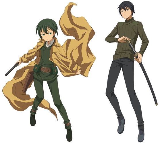 ▲『キノの旅-the Beautiful World- the Animated Series』キノ(左)、シズ(右)のデザイン。