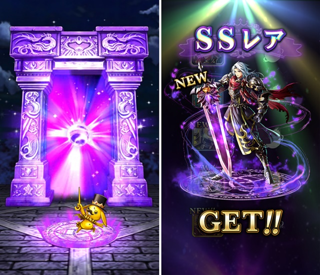▲キャラクターを召喚する門はマンモンが開くんだモン。