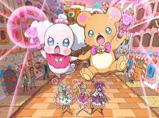 『映画キラキラ☆プリキュアアラモード』に『魔法つかいプリキュア!』のキュアミラクル&キュアマジカル&キュアフェリーチェそしてモフルンがカメオ出演!