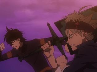 『ブラッククローバー』第3話「クローバー王国、王都へ!」より先行場面カットが到着! アスタとユノは、魔法騎士団の入団試験に挑むことに