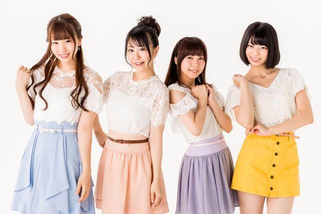 ▲「pua:re」左から水谷麻鈴さん、山田奈都美さん、八木侑紀さん、小倉弥優さん
