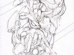 『スパイダーマン:ホームカミング』プレミアムBOXの封入特典は『ワンパンマン』作画・村田雄介先生描き下ろしポスター! ラフスケッチが公開に