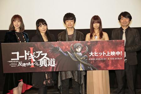 ▲左から小清水亜美さん、ゆかなさん、福山潤さん、土屋プロデューサー