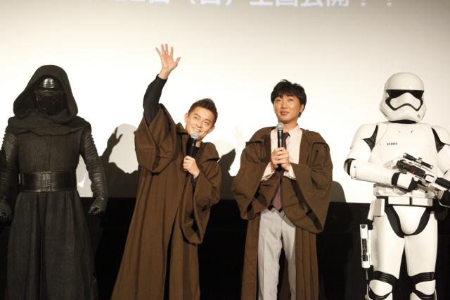 津田健次郎さん&スピードワゴンの2人がジェダイに変身!「『スター・ウォーズ/フォースの覚醒』復習上映会」レポート