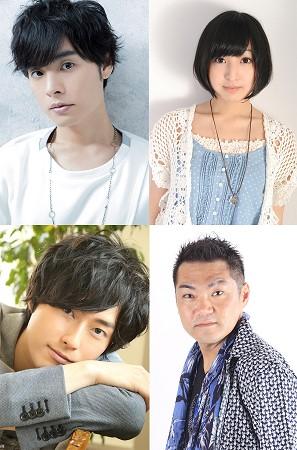 ▲上段左より岡本信彦さん、佐倉綾音さん。下段左より増田俊樹さん、三宅健太さん
