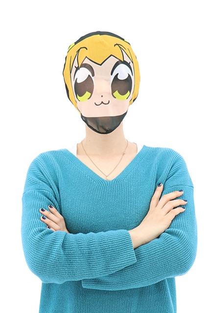 『ポプテピピック』のグッズがアコスより発売決定! 身バレ防止マスクやスマートフォンケースなど、5種類のグッズが登場
