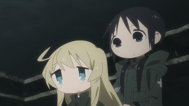 『少女終末旅行』第10話【「電車」「波長」「捕獲」】の先行場面カット公開! チトとユーリは、電車にケッテンクラートで乗り込んで……