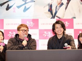 『銀魂 パート2』(仮)の製作も決定した実写版『銀魂』が韓国で104館176スクリーンで公開! 小栗旬さんが福田雄一監督と訪韓