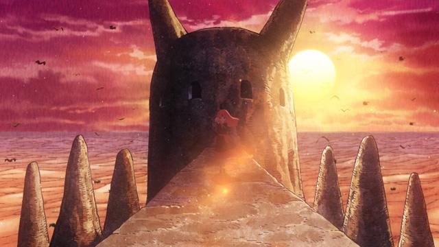 『クジラの子らは砂上に歌う』第9話「君の選択の、その先が見たい」より先行場面カット到着! 連携プレーで帝国兵を倒していくオウニとニビだが……-5