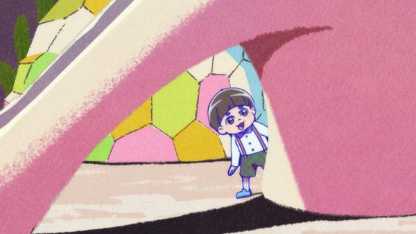『おそ松さん』第2期より、第12話「栄太郎親子」ほかの先行場面カット到着! 十四松と一緒にいる少年の正体は?
