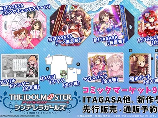 『アイドルマスター シンデレラガールズ』【コミックマーケット93】にて新作グッズ先行販売決定!