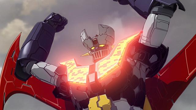 ▲武器(2)ブレストファイヤー:胸部高熱板から熱エネルギーを発して、敵を溶解させる必殺技「ロケットパンチ」とともに、主題歌第一番の歌詞でもお馴染みです。