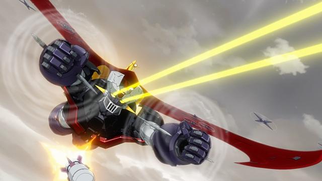 ▲武器(3)光子力ビーム:両目から黄色の光線を発射そのエネルギー源はもちろん、光子力です。TVアニメ放映時には、その威力は「火薬10トン分の破壊力」と設定されていました。