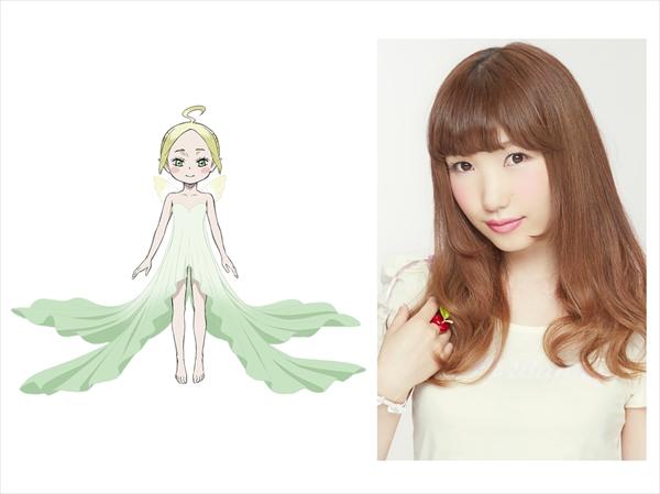▲公開されシルフのビジュアル(左)と演じる内田彩さん(右)