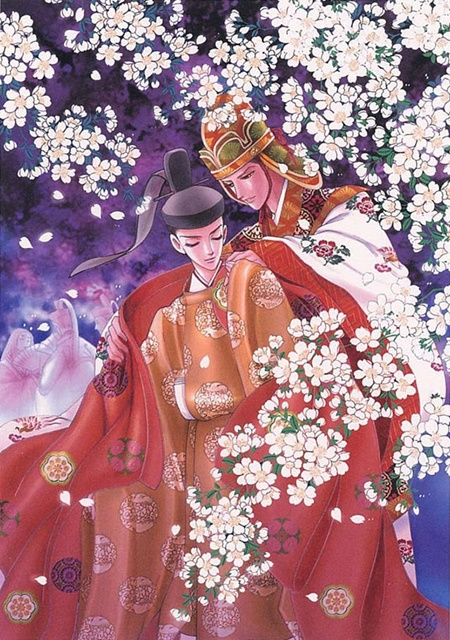 ▲桜宴(さくらのえん)にて。影となり、風となり、常に東宮に寄り添う八咫烏。