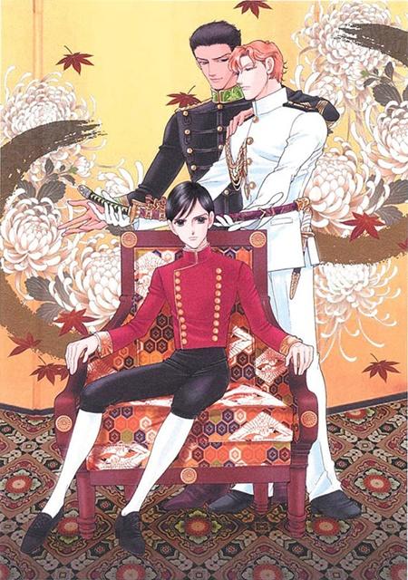 ▲皇太子の背後を守るのは、日本帝国陸軍・海軍の美しき軍人たち。時には皇太子の取り合いも!?