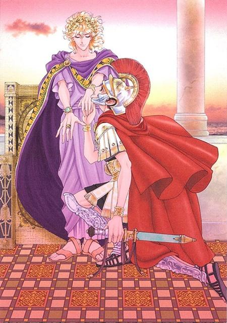 ▲戦前夜、百人隊長は幼馴染でもあるローマ新帝に勝利を誓う。皇帝として勝利を命じつつも、皇帝の心は?