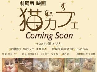 久保ユリカさん、猫の日に実写映画『猫カフェ』で初主演決定! 自身のツイッターでも報告