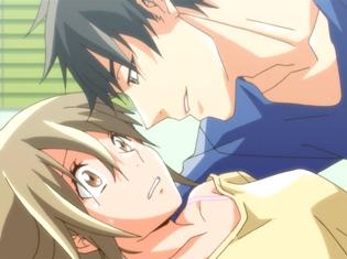 『25歳の女子高生』TVアニメ第8話「あの日あの時あの場所で」より先行場面カット公開! 蟹江の家に泊まった花はベッドに押し倒されてしまい……