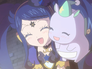 TVアニメ『アイドルタイムプリパラ』第47話より先行場面カット到着!巨大化し制御不能に陥ってしまったパックがプリパラタウンを襲う!?