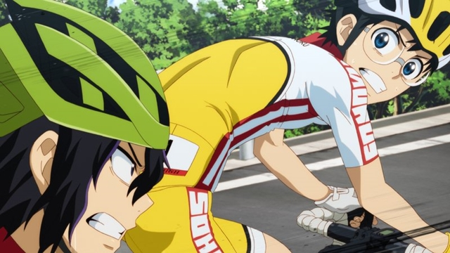 『弱虫ペダル GLORY LINE』第24話「小さな峠」より、先行カット到着! 小野田坂道は夜の山道で、箱根学園の卒業生・東堂尽八と遭遇する-2
