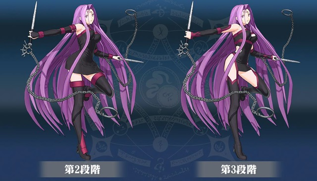 ▲『Fate/Grand Order Arcade』のメドゥーサ(ライダー) 第2段階/第3段階