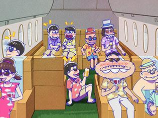 『おそ松さん』第2期・第22話「海外旅行」の先行場面カット公開! 6つ子がまさかの海外旅行!?