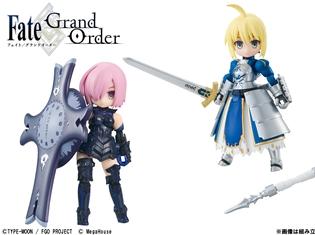 『Fate/Grand Order』と「デスクトップアーミー」がコラボレーション! マシュ・キリエライト、アルトリア・ペンドラゴン、ジャンヌ・ダルクが立体化