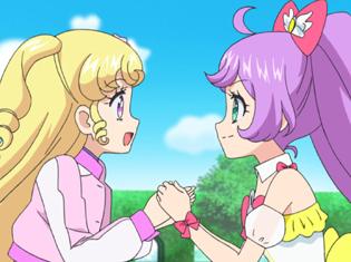 TVアニメ『アイドルタイムプリパラ』第51話(最終回)より先行場面カット到着!ゆいはらぁらとの別れがつらく、引き留めようとして……