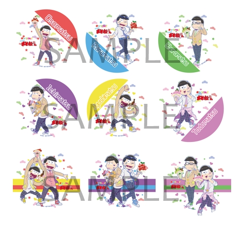"""『おそ松さん』×「キャラクレ!」第2弾で、6つ子たちが""""メンズアイドル""""に!!"""