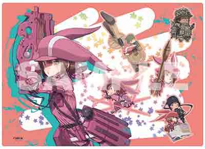 ▲『ソードアート・オンライン オルタナティブ ガンゲイル・オンライン』ボタン付きクリアファイル