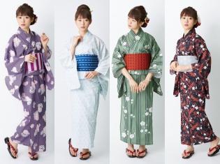 『刀剣乱舞-ONLINE-』より歌仙兼定、大和守安定、鶯丸、小烏丸をモデルにしたコラボ浴衣が登場!